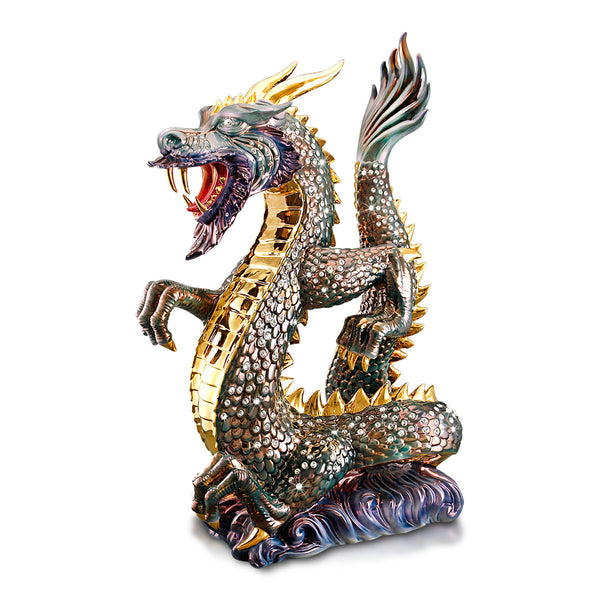 big dragon ceramic porcelain gold and pure luster colors