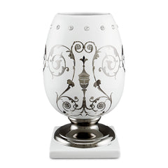 Ceramic egg vase with Imperial design