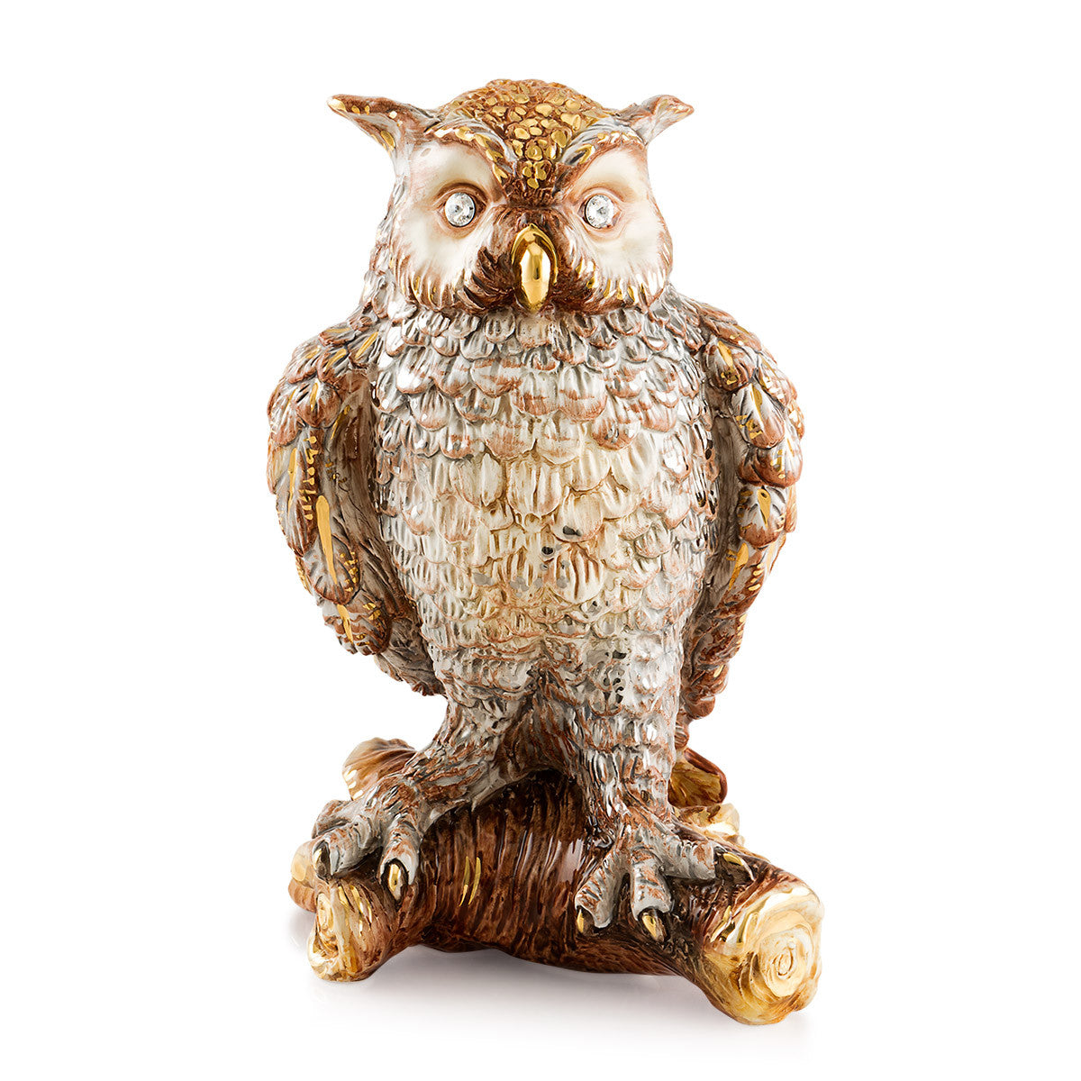 Large Ceramic Owl statue with Swarovski