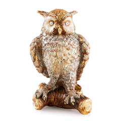 Hand Painted Italian Ceramic owl statue-Swarovski crystals-24kt gold-animals gifts-luxury home decor