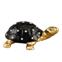 Ceramic turtle with Swarovski crystal