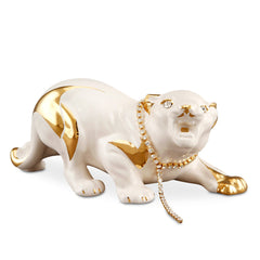 tiger cub ceramic porcelain small animal with Swarovski
