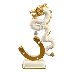 Ceramic trophy dragon statue