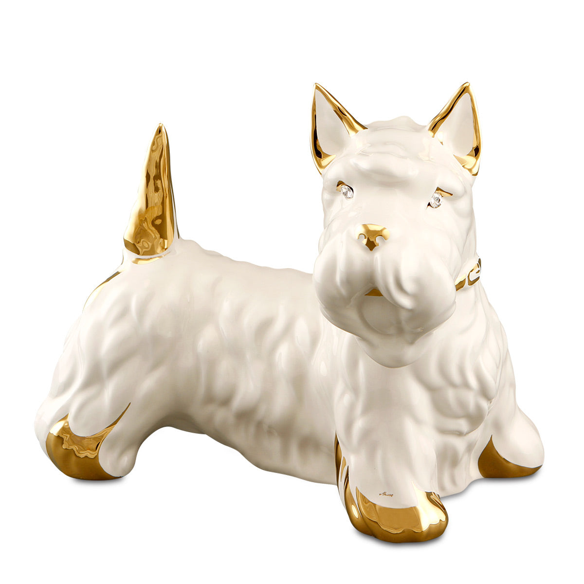 Ceramic scottish terrier statue