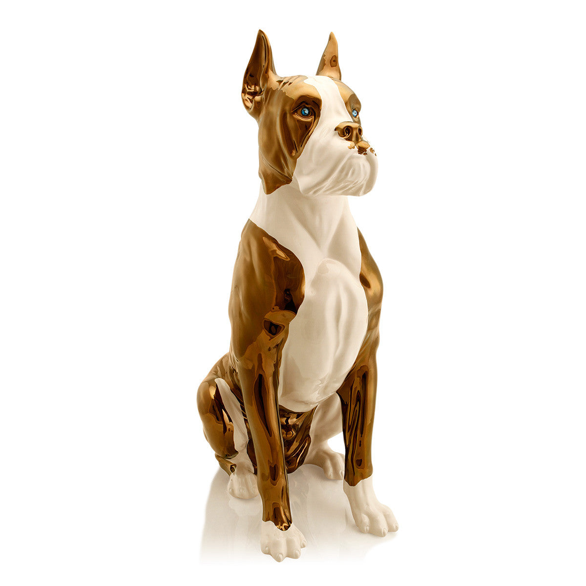 Hand Painted Italian Ceramic Big boxer dog-Hotel Lobby Furniture-luxury home decor