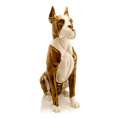 big boxer dog ceramic porcelain Swarovski blue eyes