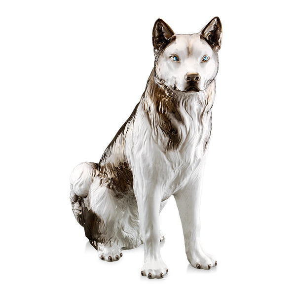 Ceramic siberian husky dog