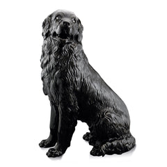 Ceramic newfoundland dog statue black