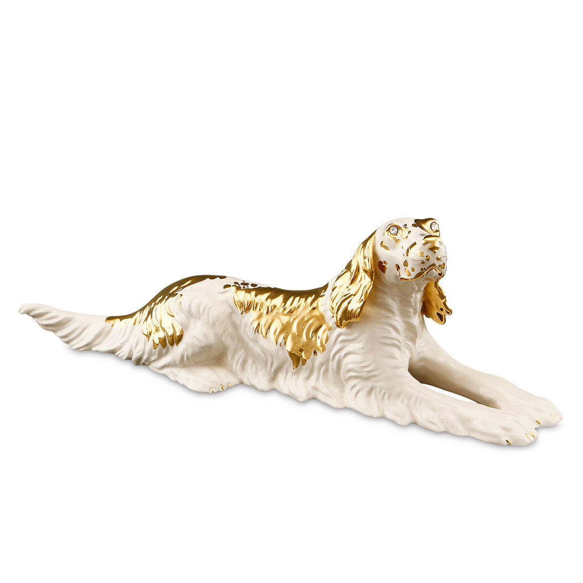 english setter-dog statues-24kt gold-animal gifts