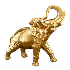 Ceramic large elephant statue gold