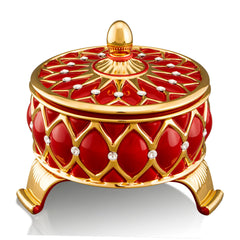 Ceramic box | Venice red and gold