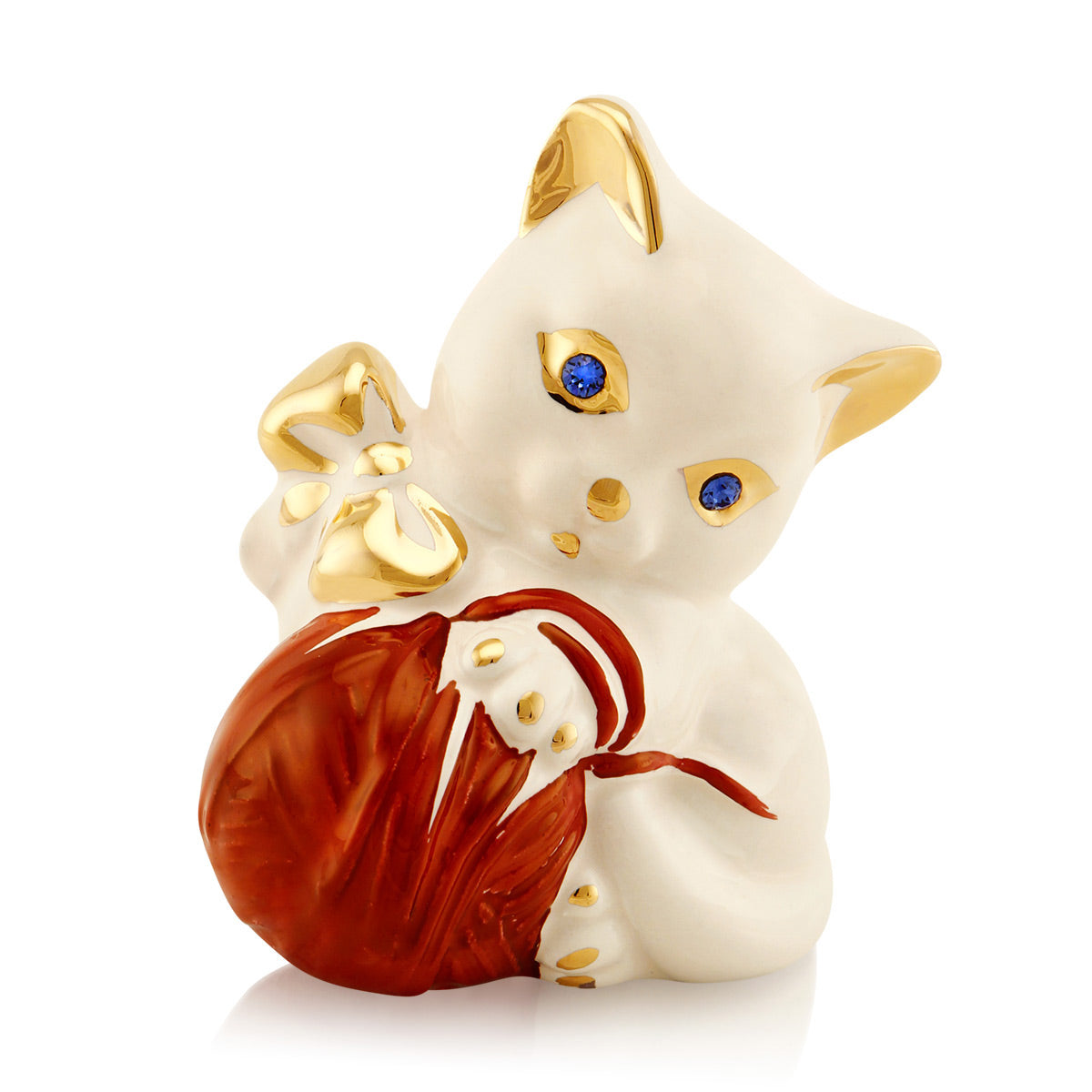 Ceramic little Kitten with clew