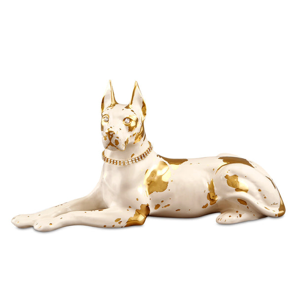 Ceramic little lying great dane