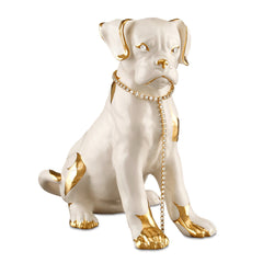 puppy boxer ceramic porcelain with Swarovski