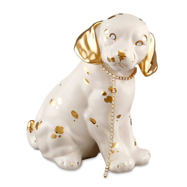 dog beagle ceramic porcelai for gift handmade in italy