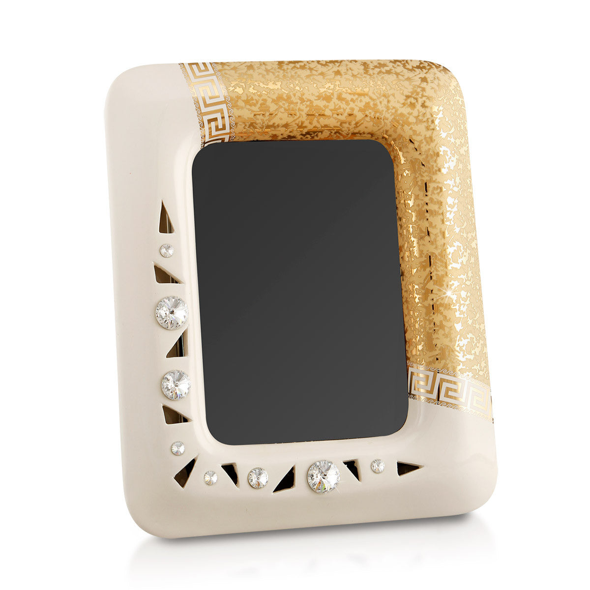 Rectangle ceramic picture frame with Swarovski crystal