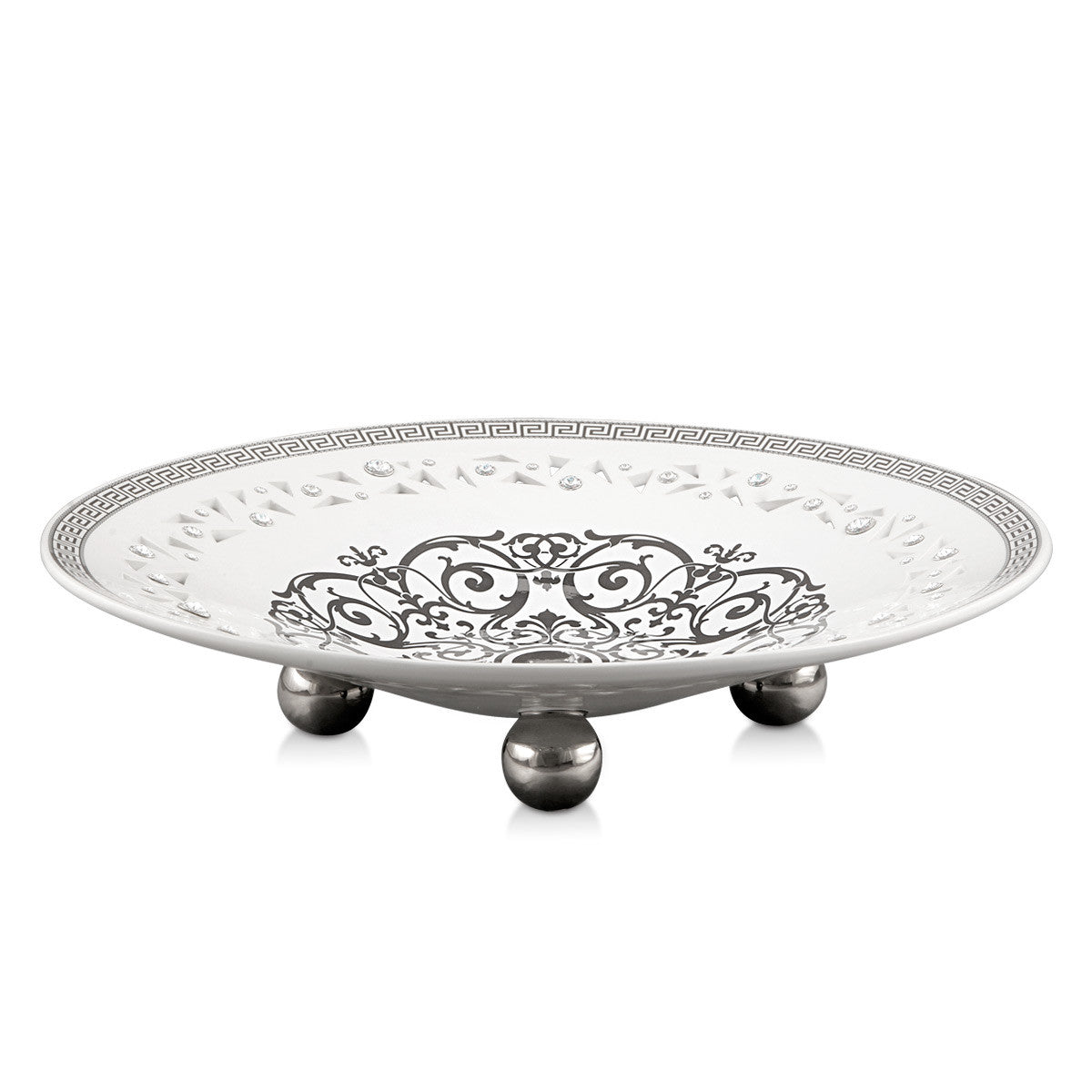 ceramic pierced centerpiece with platinum Imperial design