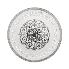ceramic pierced centerpiece with platinum Imperial design and Swarovski