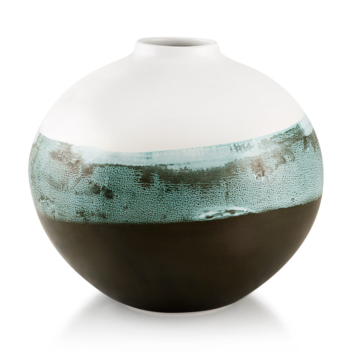 Ceramic oval vase | Reactive glaze