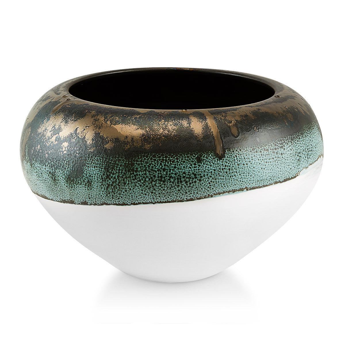 Cenote ceramic vase reactive glaze, ceramic supplies, modern design