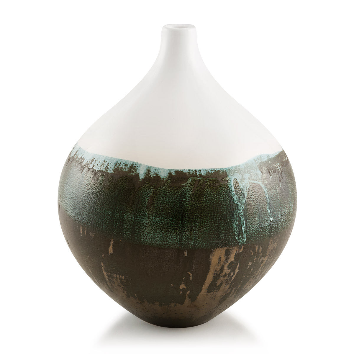 Ceramic teardrop vase | Reactive glaze