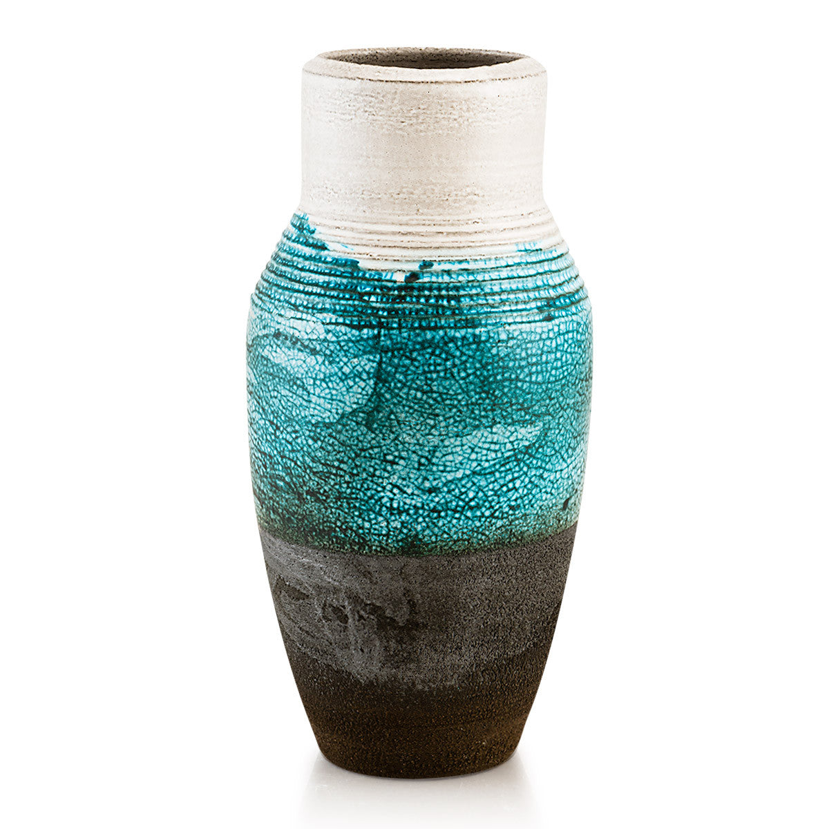 Ceramic vase, Modern design, Nautical decor, reactive glaze