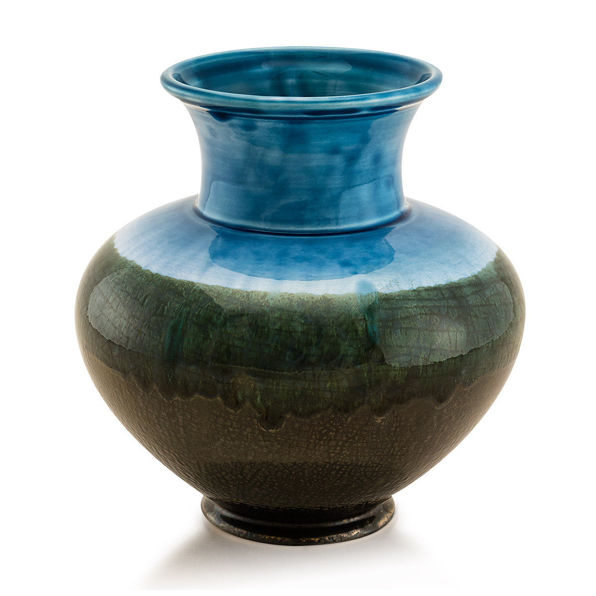 Round vases-blue color-Pottery supplies-Modern design