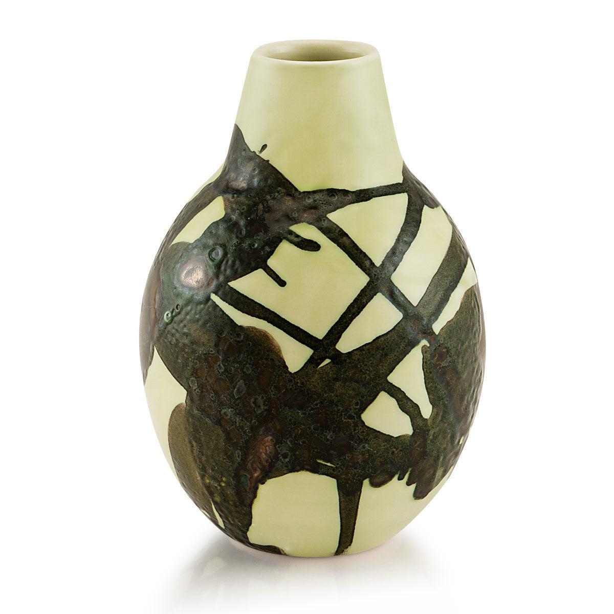Ceramic small bottle vase | Dripping style celadon color, Modern design, top quality