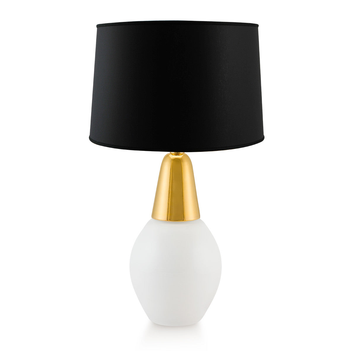 Drop ceramic table lamp white and gold