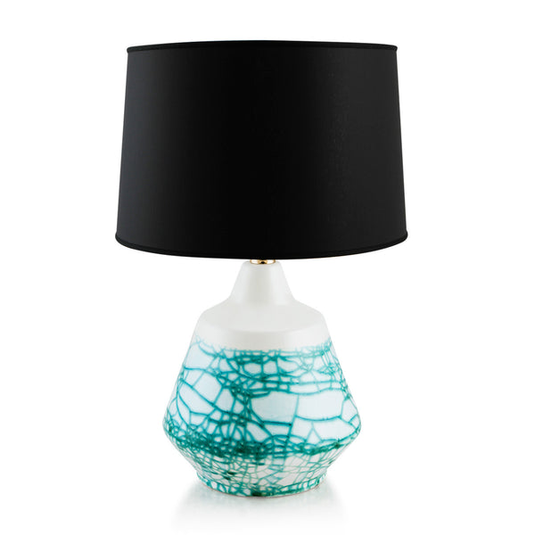 Ceramic table lamp Acquamarine nautical decor