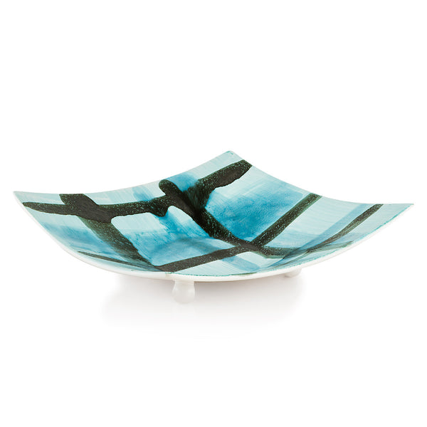 hanging plates-abstract-expressionism-bowl-light blue color-handmade pottery-minimalism