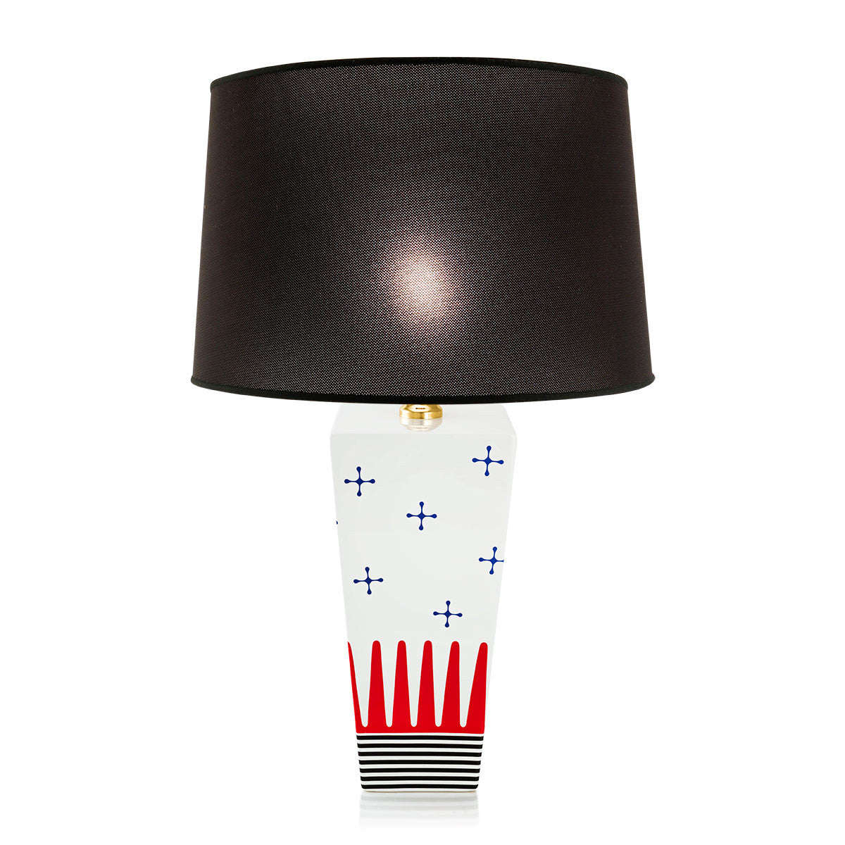 ceramic table lamp | graphic pattern | glamour lighting