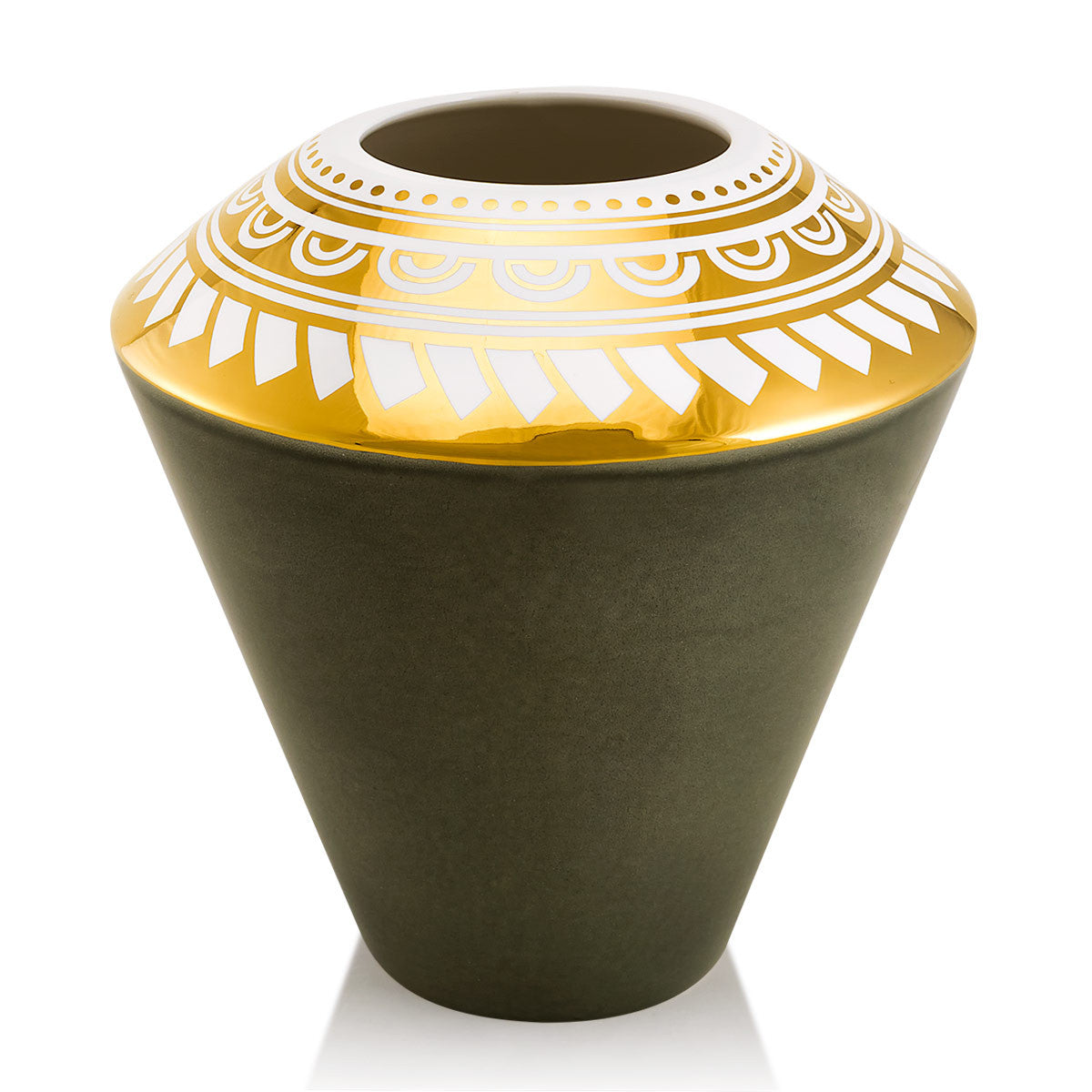 Ceramic small vase with tribal decoration