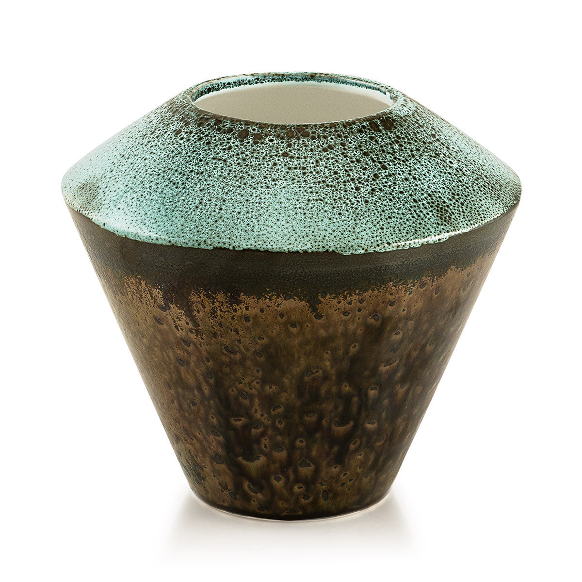 Ceramic small vase | Reactive glaze