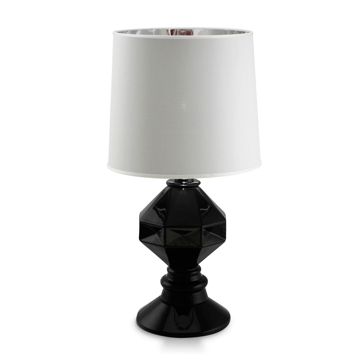 Stylish table lamps table | Mat black | Handmade Pottery