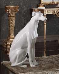 greyhound figurine ceramic