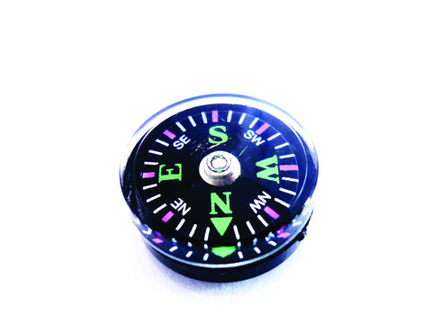 Explorer Button Compass - Mini 14mm Oil Filled Button Compass