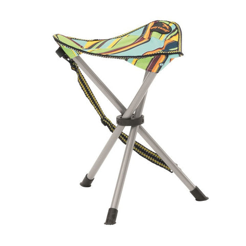 Easy Camp Marina Camping Fishing  Festival Carry Hiking Chair Stool - Multi coloured Stripe