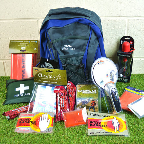 Emergency 1 Person Survival Kit  Go/Grab Rucksack