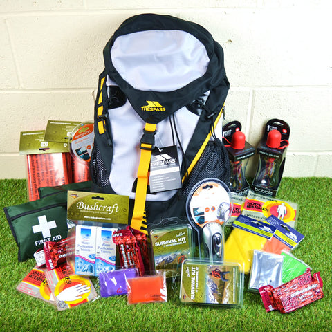 Emergency 2 Person Survival Kit  Go/Grab Rucksack
