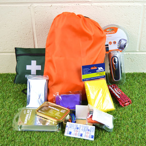 Emergency  1 Person Starter Survival Kit  Go/Grab Bag
