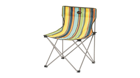 Easy Camp - Camping Folding Baia Chair Multi Coloured Striped Foldable Camping Festival Chair