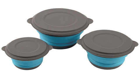 Easy Camp - Clearwater Foldable Bowl Set With Lids Camping Utensils