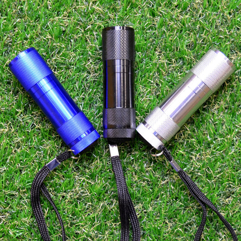 6 LED Aluminium Flashlight Pocket Emergency Small Metal Lightweight Blue Silver Black Torch