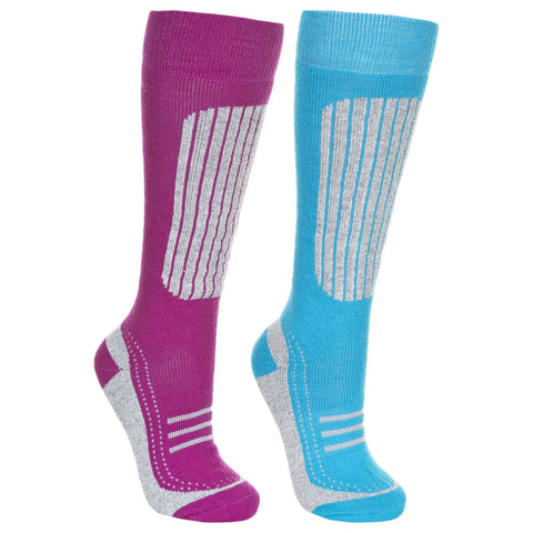 Trespass Janus II Womens Ski Tube Socks (2 Pair Pack)