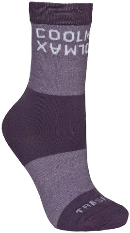Trespass Cool Womens Hiking Socks Blackcurrant