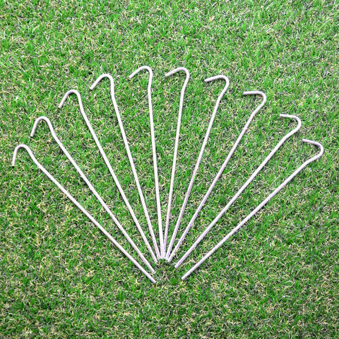 50 X HEAVY DUTY GALVANISED STEEL TENT PEGS METAL CAMPING CANOPY HIGH QUALITY NEW