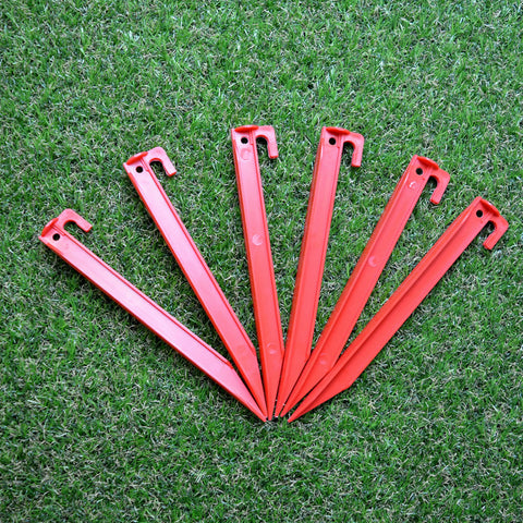 PACK OF 12 PLASTIC TENT PEGS (2 x 6 Pack)