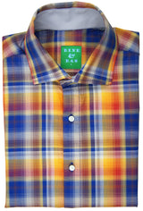 Merrick Orange Ombre Plaid