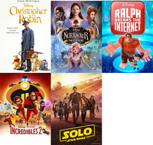 Christopher Robin/Incredibles 2/Nutcracker/Ralph 2/Solo 5-pack HD (I-Tunes)